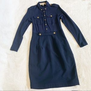 NWT Authentic Burberry Brit Military Wool Dress